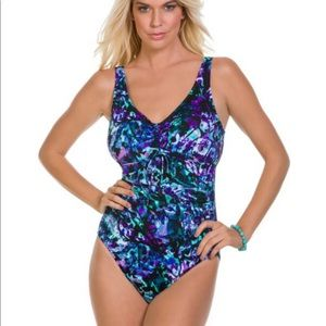 New Miraclesuit BUTTERFLIES ONE PIECE SWIMSUIT